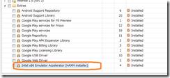 Intel x86 Emulator Accelerator (HAXM) インストールできない。