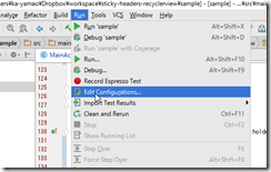 「use same selection for future launches」解除 android studio